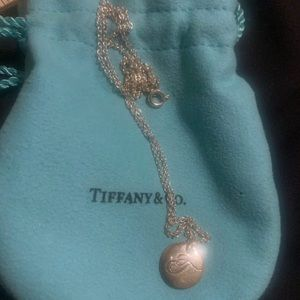Tiffany & Co necklace and T charm